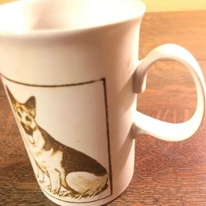 Vintage Ceramic Dunoon German Shepard Coffee mug